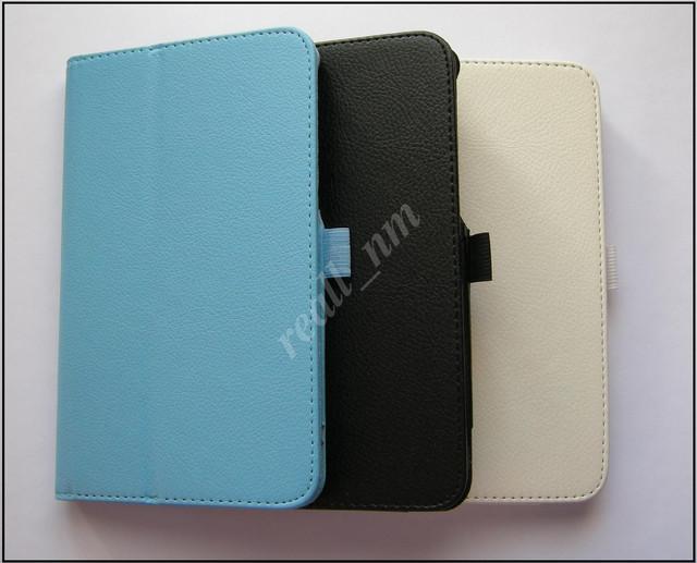 купить кожаный чехол-книжка Asus Memo Pad 7Me70C ME70CX