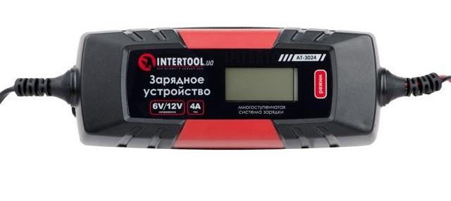 Автомобильное зарядное устройство 6В/12В 4A 230B Intertool AT-3024