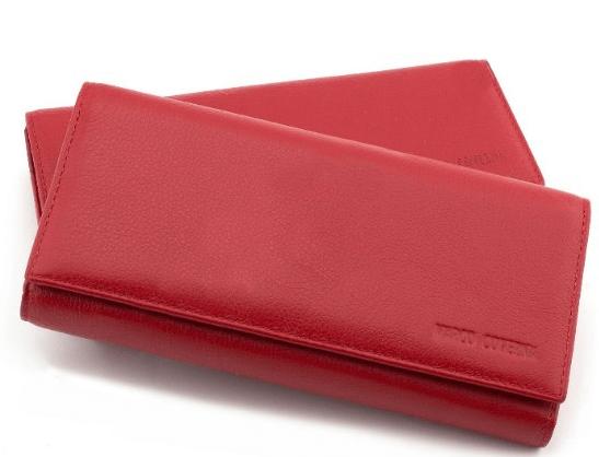 Horton Collection горизонтальный женский кошелёк из натуральной кожи в красном цвете TRW8586R