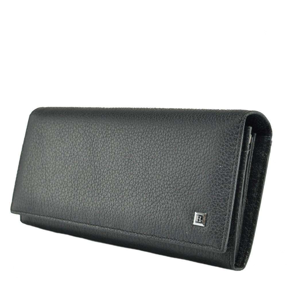 c01fd412ecc6 Черный женский кошелёк HORTON из натуральной кожи в горизонтальном стиле TRW-H849A  - Интернет-
