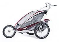 THULE Chariot CX2 - коляска для бега и езды на велосипеде, цвет красный, фото 1