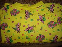 Пижама детская футер (байка,начес). Размеры 56,60,64,68