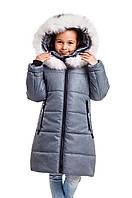 Детские зимние куртки для девочек    интернет магазин 34-40 серый принт