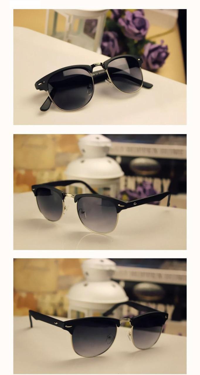 Сонцезахисні окуляри в стилі ретро коричневий і чорний колір