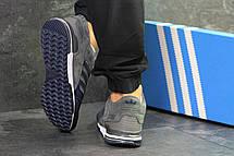 Мужские кроссовки Adidas ZX 750,замшевые,серые с синим 46р, фото 3