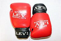 Перчатки боксерские винил LEV  8 oz красный