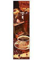 Фотокартина на холсте Кофе и зерна, 50*180 см