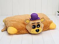 Подушечка - игрушка золотой Фредди Аниматроники 5 ночей с Фредди 44*35 см. FNAF, фото 1