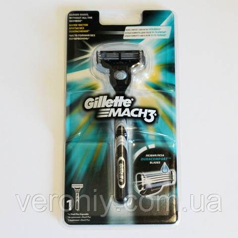 Станок для бритья Gillette Mach3 с 1 сменной кассетой