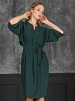 Мэри Платье с поясом зеленое, фото 1
