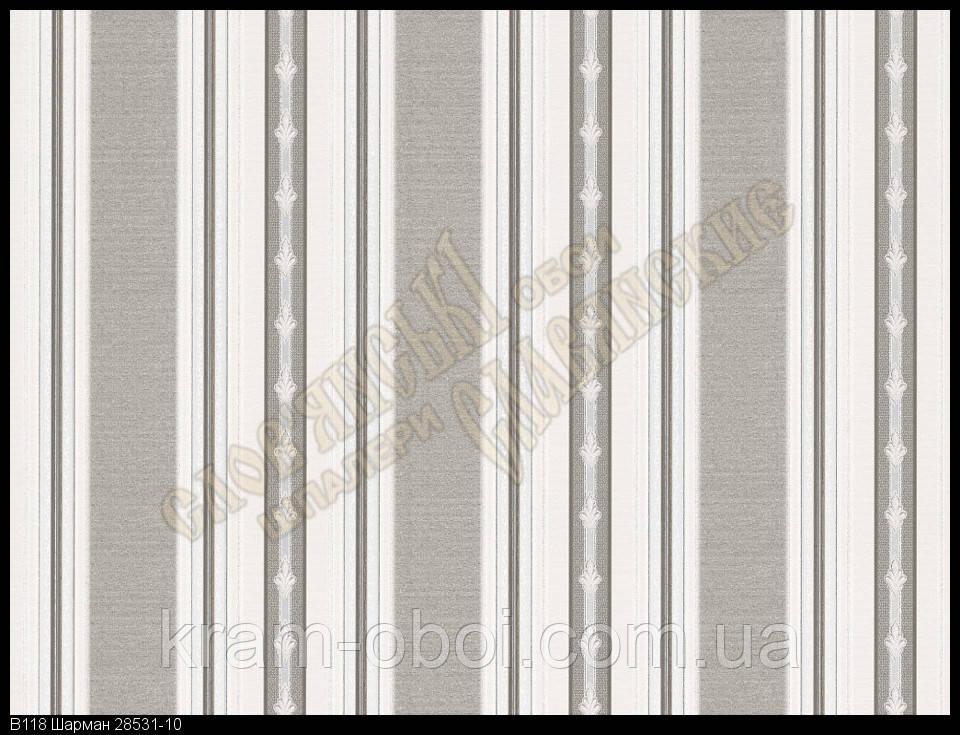 Шпалери Слов'янські Шпалери КФТБ вінілові гарячого тиснення 10м*1,06 9В118 Шарман2 8531-10