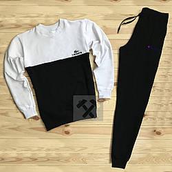Спортивный костюм Lacoste и Champion черного и серого цвета (люкс копия)