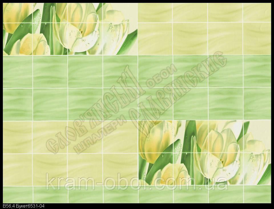 Обои Славянские Обои КФТБ простые бумажные моющиеся 10 м*0,53 9В56 Букет 6531-04