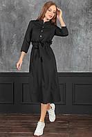 Полина Платье миди черное, фото 1