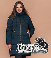 Braggart Diva 1939   Теплая женская куртка большого размера темно-зеленая