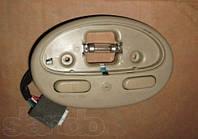 Корпус фонаря салона с кнопкой под люк (песочный) Шевролет Авео