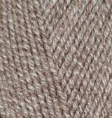 Пряжа для вязания Лана голд 650 св. бежевый меланж