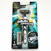 Станок для бритья Gillette Mach3 с 2 сменной кассетой