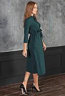 Полина Платье миди зеленое, фото 1