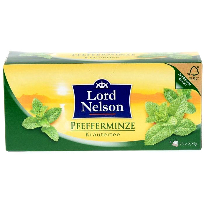 Чай LORD NELSON PFEFFERMINZE, МЯТА, 25 ПАКЕТИКОВ