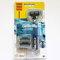 Станок для бритья Gillette Mach 3 Start + 3 кассеты