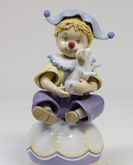 """Фарфоровая музыкальная фигурка """"Клоун"""" (Pavone) CMS - 23/14"""
