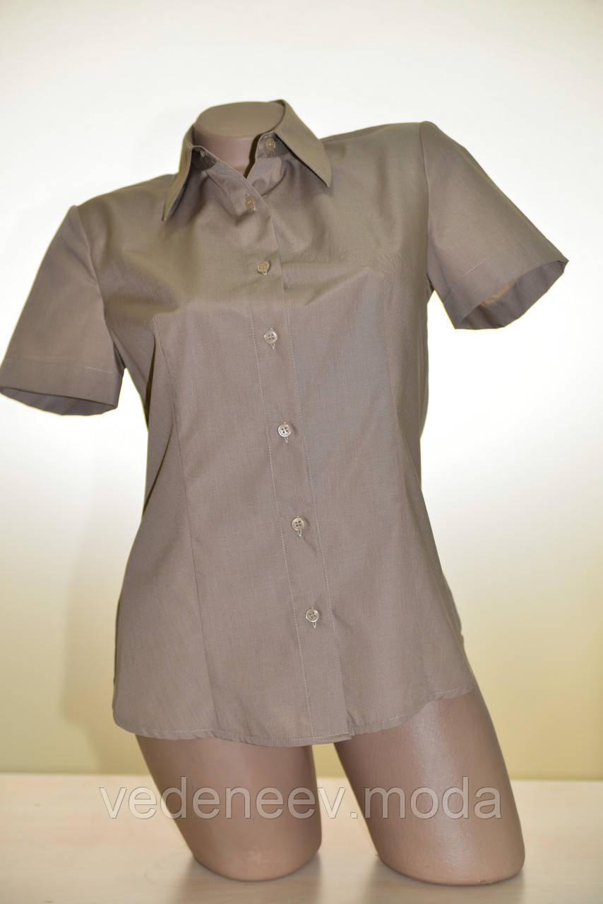 Блуза с коротким рукавом бежевого цвета