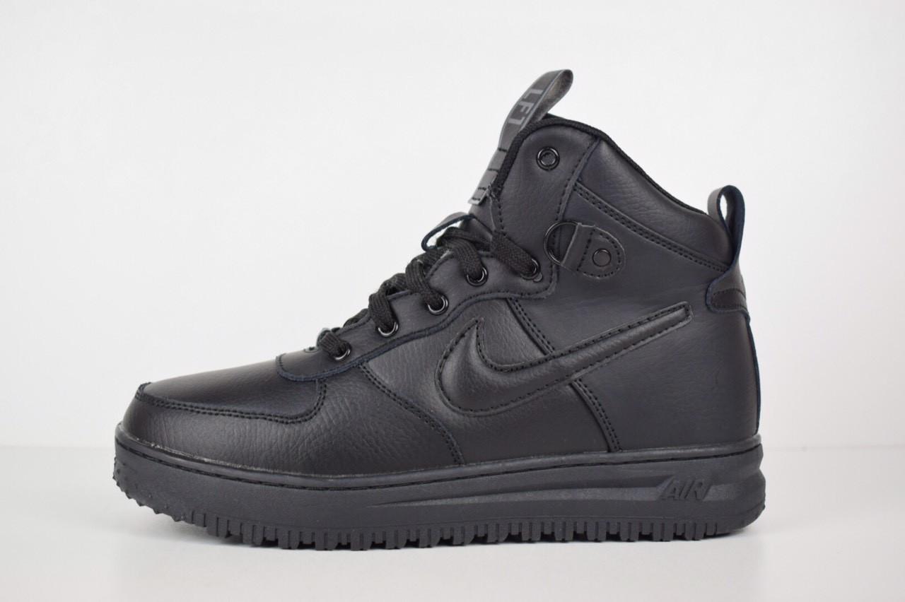 3656bf867800 Зимние мужские кроссовки в стиле Nike Lunar Force 1 Duckboot, черные ...