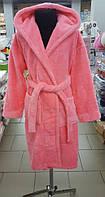 Детский халат микрофибра розовый Zeron