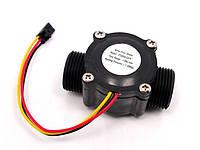 Счетчик расхода воды 1-60 литров в минуту модель FS300А - диаметр 3/4 дюйма Датчик для Arduino