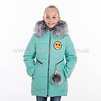 "Зимняя куртка для девочки ""Смайл"", Зима 2019 года, фото 1"