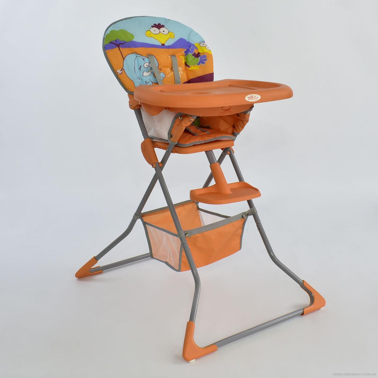 Стульчик для кормления JOY А 0022 оранжевый