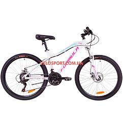 """Горный велосипед Formula Mystique 1.0 DD 26 дюймов 18"""" бело-голубой"""
