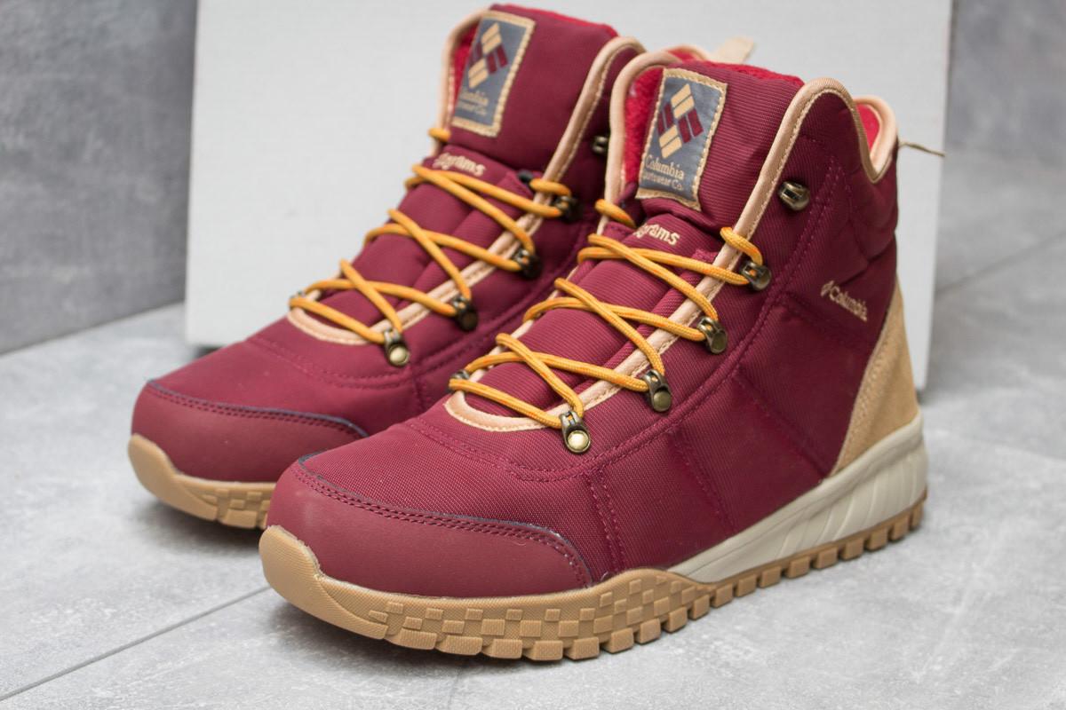 Зимние ботинки Columbia Waterproof, бордовые (30174),  [  41 42 45  ]