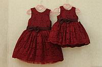 """Нарядное платье на девочку """"Бордовый гипюрчик"""""""