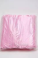 Шапочки одноразовые из тонкого флизелина на мягкой резинке, 100 шт.
