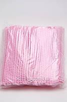 Etto Шапочки одноразовые из тонкого флизелина на мягкой резинке, розовые 100 шт., фото 2