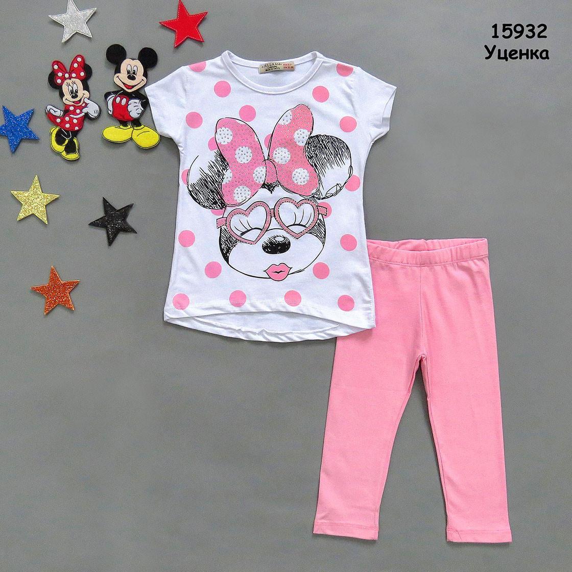 Летний костюм Minnie Mouse для девочки. 4-5 лет
