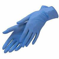 Нитриловые перчатки синие Nitrylex