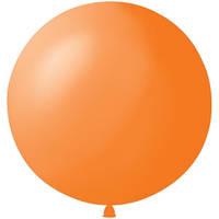 Латексный шар 36/91см, оранжевый, пастель 005