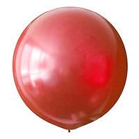 Латексный шар 30/75 см, красный, металлик  031