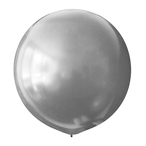 Латексный шар 30/75 см, серебристый, металлик  026