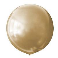 Латексный шар 30/75 см, золотой, металлик  025
