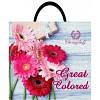 Пакет полиэтиленовый петлевой 380х340 розовые герберым Белая Церковь