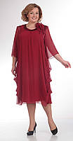 Платье Pretty-334/2 белорусский трикотаж, бордо, 56