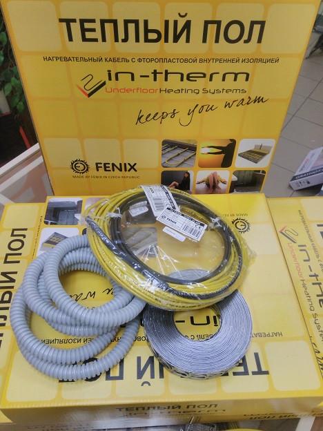 Нагревательный кабель 14м 270Вт In-Therm ADSV20 Fenix (Чехия) для электрического теплого пола под плитку