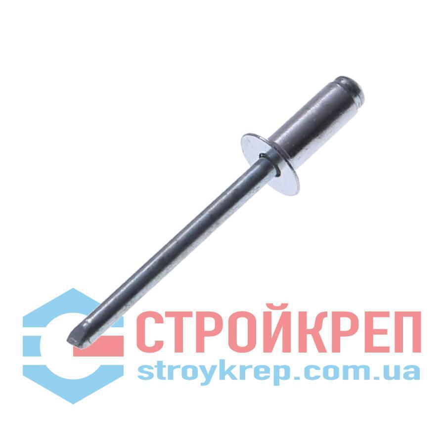 Заклёпка вытяжная, стандартная головка, сталь/сталь, 4,0х16