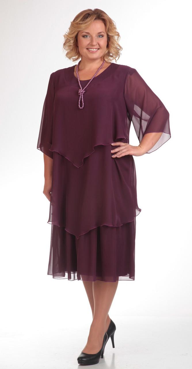 Платье Pretty-347 белорусский трикотаж, бордо, 56