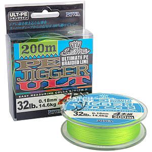 Плетёнка Diwa Ultimate PE Jigger Braided Line 200м, Светло-Зеленый