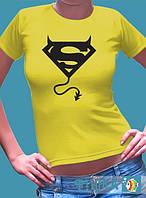 """Женская футболка с рисунком """"Суперчертик"""", фото 1"""